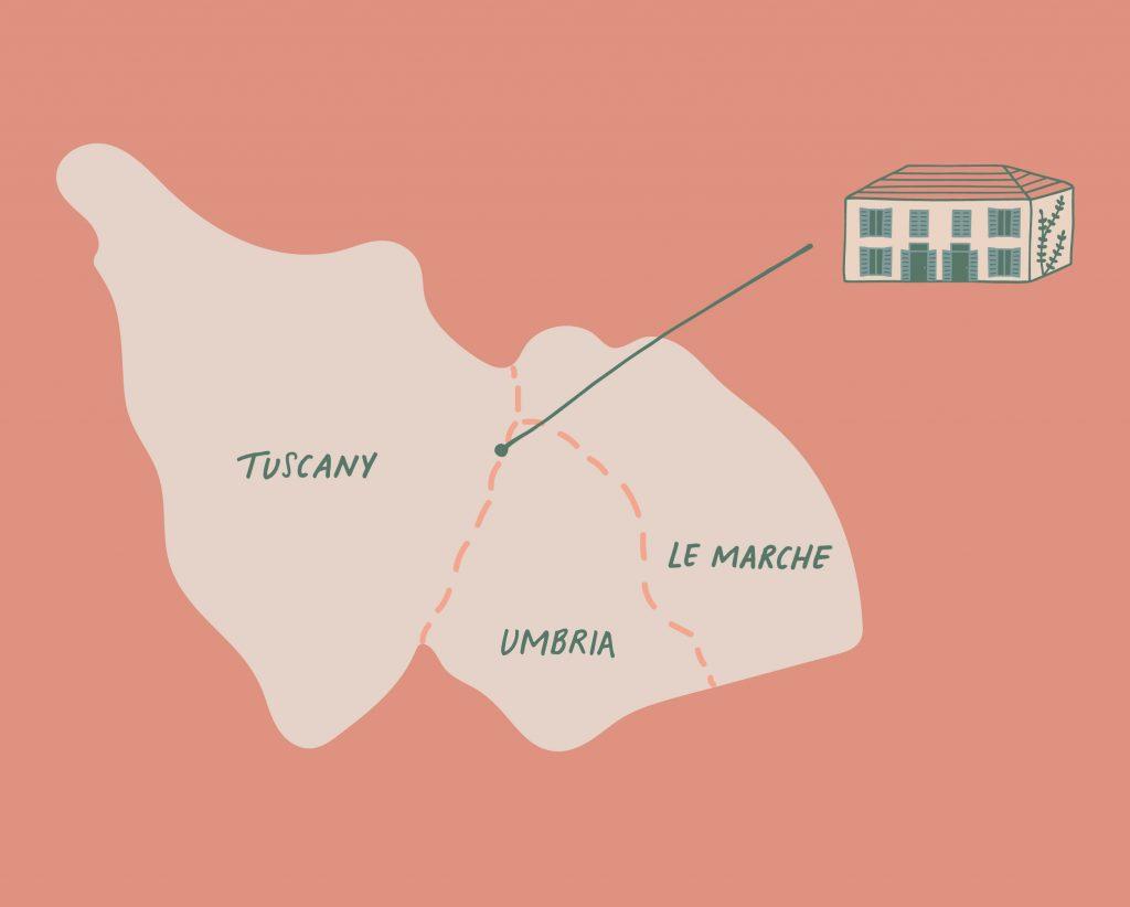 Map - Tuscany and Umbria