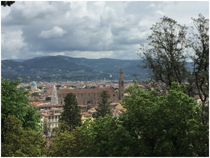 A view of Florence from the Bardini garden.