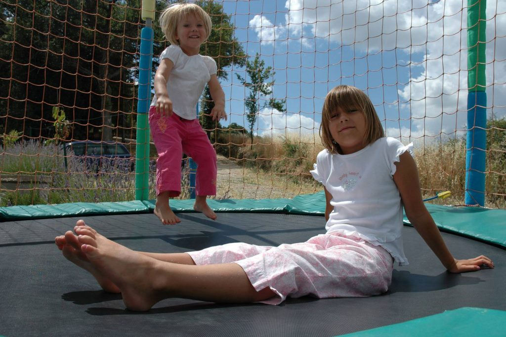 girls on the trampoline