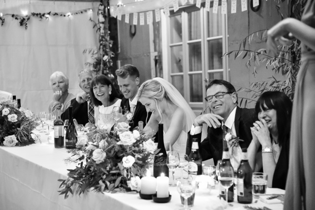 Black and white Wedding at Villa Pia
