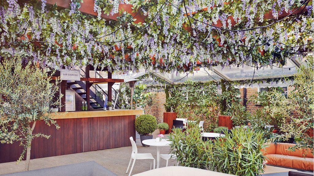 House of Peroni Brick Lane garden